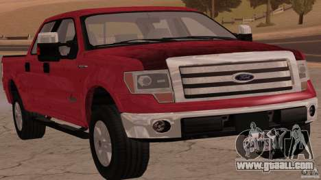 Ford F-150 Platinum Final 2013 for GTA San Andreas back left view