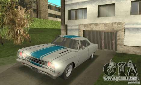 Plymouth Roadrunner 383 for GTA San Andreas back view