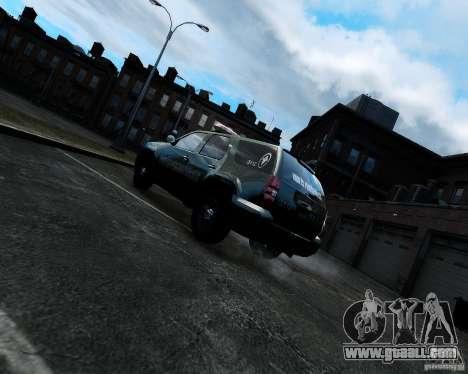 Chevrolet Tahoe Hungarian Vam-Zoll Custom for GTA 4 back left view