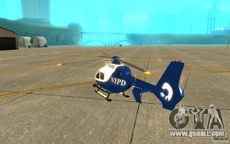 NYPD Eurocopter By SgtMartin_Riggs for GTA San Andreas right view