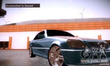 Mercedes-Benz 600SEC for GTA San Andreas upper view