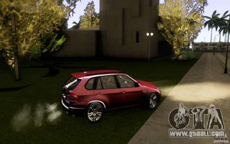 BMW X5M  2011 for GTA San Andreas upper view