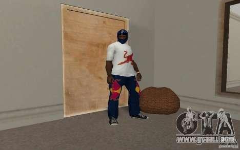 Red Bull Clothes v2.0 for GTA San Andreas fifth screenshot