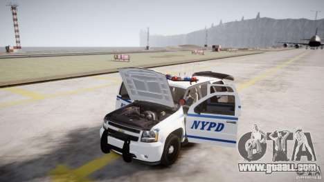 Chevrolet Tahoe 2012 NYPD for GTA 4 inner view