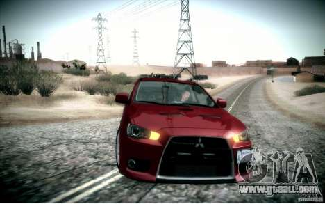 Mitsubishi Lancer Evolution X for GTA San Andreas right view