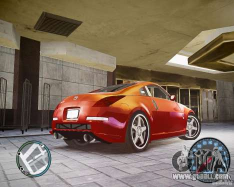 Nissan 350Z Z33 for GTA 4 back left view