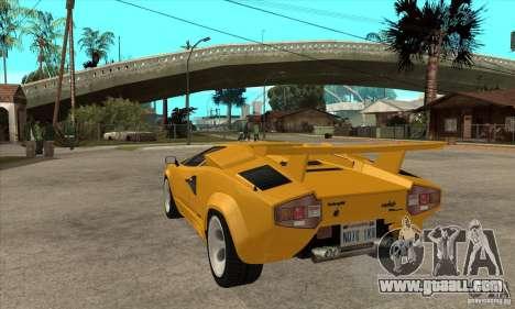 Lamborghini Countach for GTA San Andreas back left view