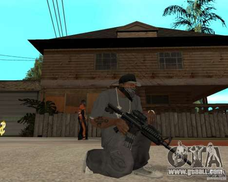 Very high-quality M16 for GTA San Andreas second screenshot