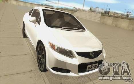 Honda Civic SI 2012 for GTA San Andreas inner view