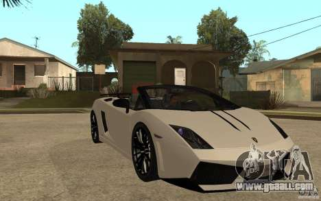 Lamborghini Gallardo LP570-4 for GTA San Andreas back view