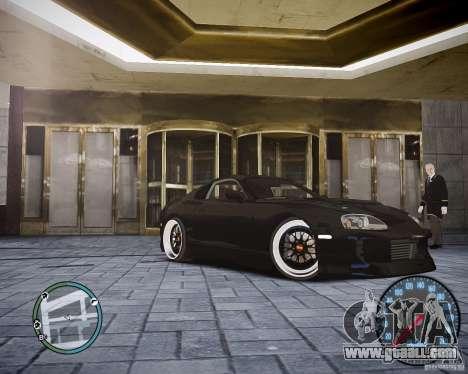 TOYOTA JZA80 SUPRA for GTA 4 left view