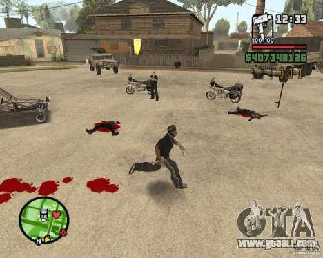 Sangue na tela v2 for GTA San Andreas second screenshot