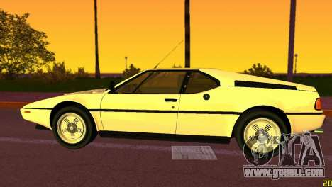 BMW M1 (E26) 1979 for GTA Vice City back left view