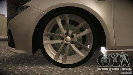 Seat Leon Cupra for GTA San Andreas upper view