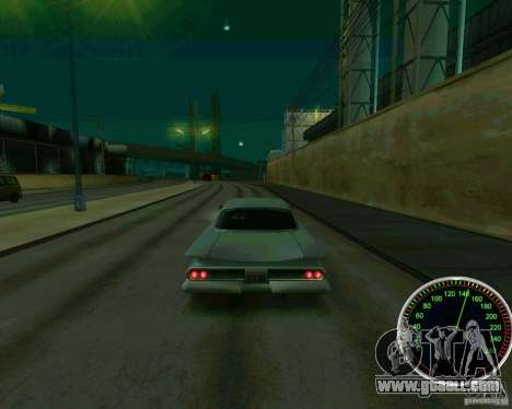 Speedometer for GTA San Andreas forth screenshot