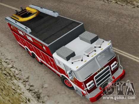 Pierce Walk-in SFFD Heavy Rescue for GTA San Andreas back view
