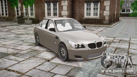 BMW E60 M5 2006 for GTA 4 inner view