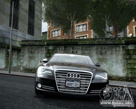 Audi A8 2010 V8 FSI for GTA 4 back left view