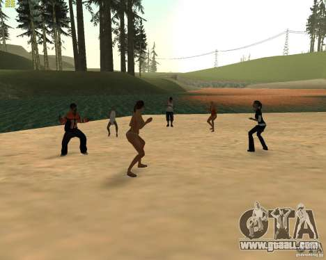 Party on the nature for GTA San Andreas forth screenshot