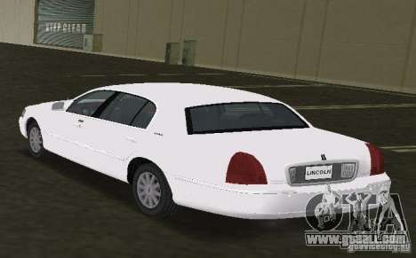 Lincoln Town Car for GTA Vice City left view