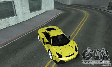 Lamborghini Murcielago Tuned for GTA San Andreas bottom view