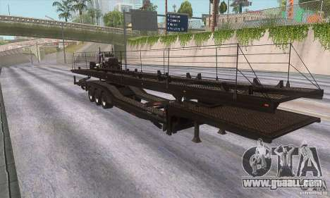 The trailer-truck for GTA San Andreas left view