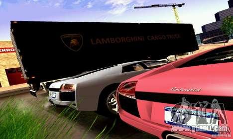 Lamborghini Cargo Truck for GTA San Andreas back view