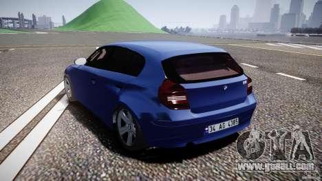BMW 118i for GTA 4 back left view