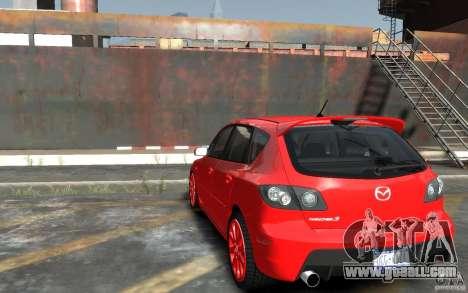 Mazda 3 for GTA 4 back left view