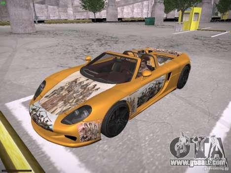 Porsche Carrera GT for GTA San Andreas upper view
