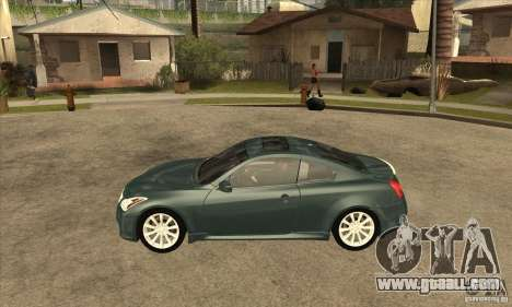 Infiniti G37 Coupe Sport for GTA San Andreas left view
