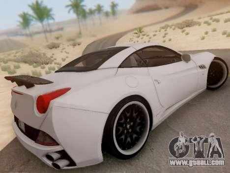 Ferrari California Hamann 2011 for GTA San Andreas inner view