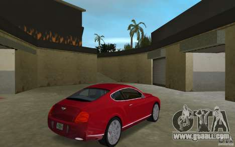 Bentley Continental GT (Final) for GTA Vice City right view