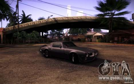Pontiac Firebird 1970 for GTA San Andreas right view