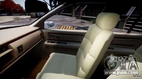 Buick Roadmaster Sedan 1996 v1.0 for GTA 4 inner view