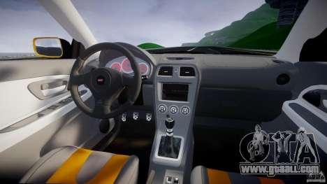 Subaru Impreza STI for GTA 4 upper view