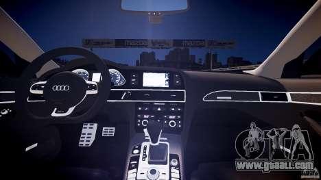 Audi RS6 2009 for GTA 4 inner view