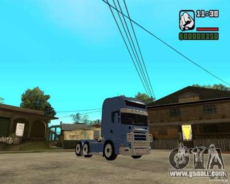 Scania 164L 580 V8 Black Beaunty for GTA San Andreas back view