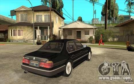 BMW E32 7-er Alpina B12 for GTA San Andreas back view