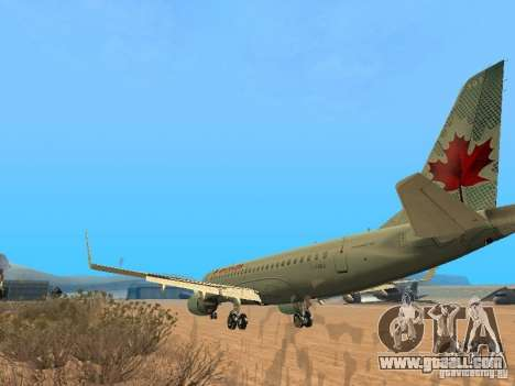 Embraer ERJ 190 Air Canada for GTA San Andreas right view