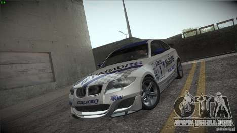 BMW 135i Coupe Road Edition for GTA San Andreas engine
