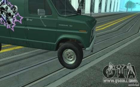 Ford E-150 Short Version v1 for GTA San Andreas inner view