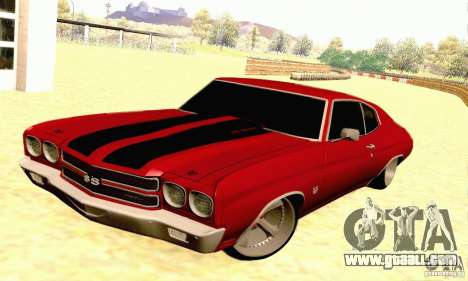 Chevrolet Chevelle 1970 for GTA San Andreas upper view