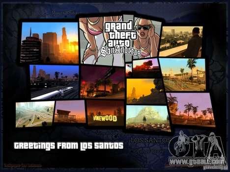 Beautiful boot screen for GTA San Andreas second screenshot