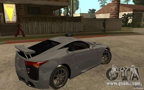 Lexus LFA 2010 for GTA San Andreas right view
