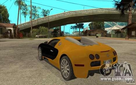 Bugatti Veyron v1.0 for GTA San Andreas back left view