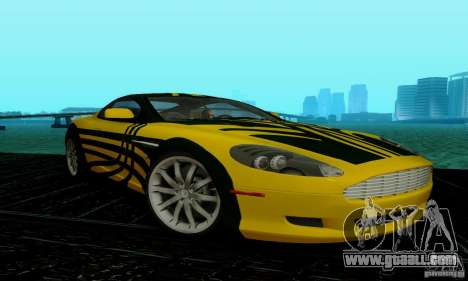 Aston Martin DB9 for GTA San Andreas bottom view