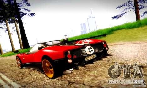 Pagani Zonda Tricolore V2 for GTA San Andreas right view