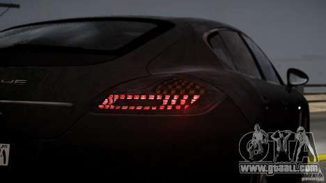 Porsche Panamera Turbo 2010 Black Edition for GTA 4 upper view