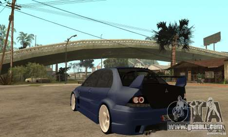 Mitsubishi Lancer 2006 Tuned for GTA San Andreas back left view